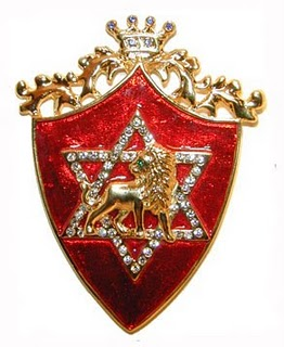 Rothchild family crest with Hexagram mark of the beast
