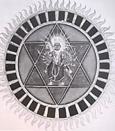 Hinduism Shatkona hexagram