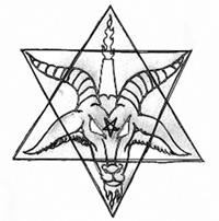 Hexagram Satan Goathead