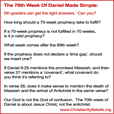 70th week of Daniel made simple