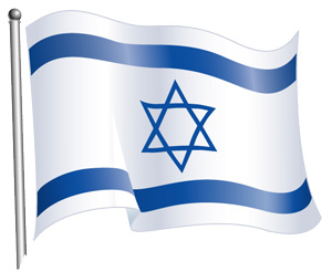 Israel Flag Hexagram