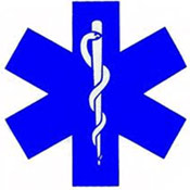 Medicine Ambulance EMS Hexagram Symbol