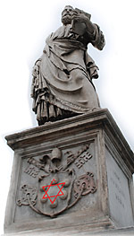St. Peter Statue At Vatican With Hexagram