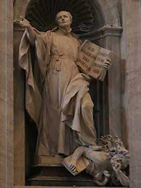 Loyola Statue At Vatican Stepping On A Protestant Who Is Holding A Bible