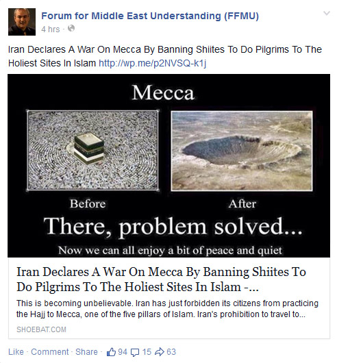 Walid Shoebat promoting Mecca and Muslims be nuked.