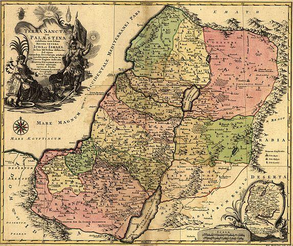 Terra Palestinia map