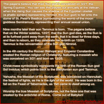 Pagan Easter and Christ mass