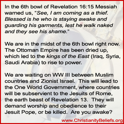 Revelation timeline 6th bowl of Revelation 16