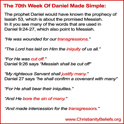 70th week of Daniel made simple - The Prophet Daniel would have know the prophecy in Isaiah 53
