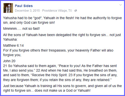 Paul Sides false teachings about messiah being 100% human