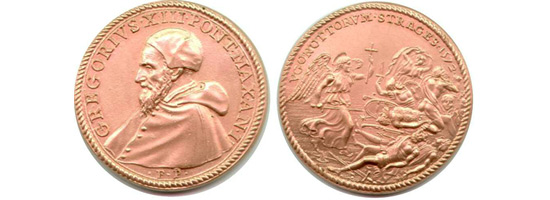 Pope Gregory XIII coin St. Bartholomew's Eve Massacre