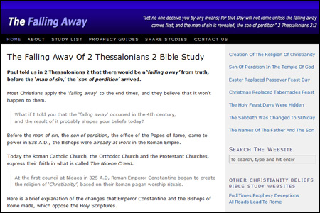 The Falling Away of 2 Thessalonians 2